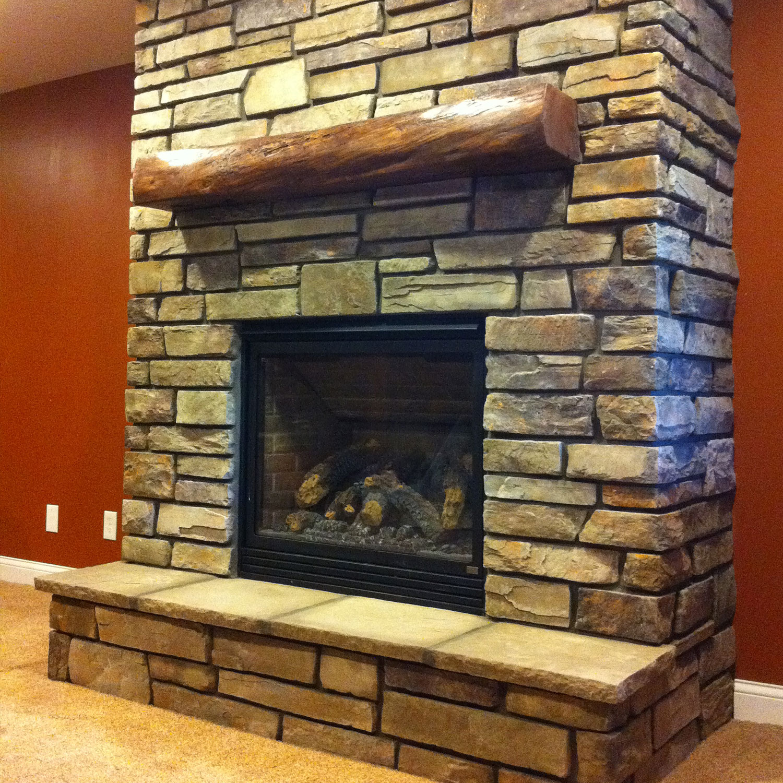 Ledgestone Fireplace Surround - moneyduitfree